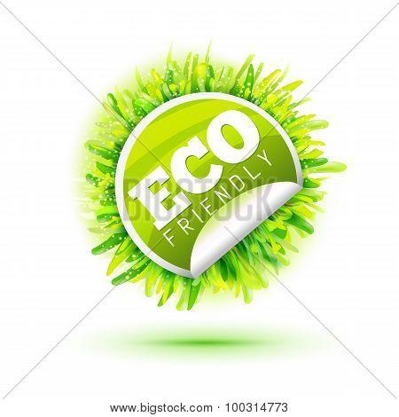 Eco Friendly Sticker With Grass