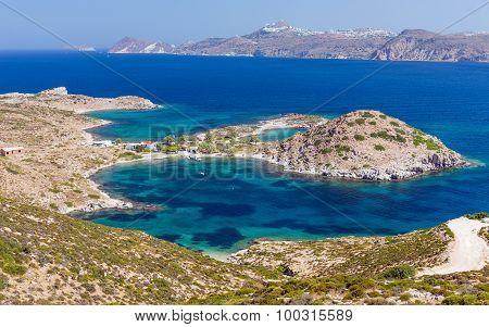 Patrikia bay, Milos island, Cyclades, Greece