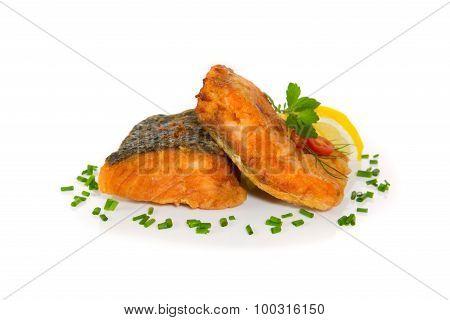 Grilled Fish, Salmon Steak.