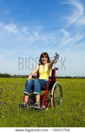 Woman On Wheelchair