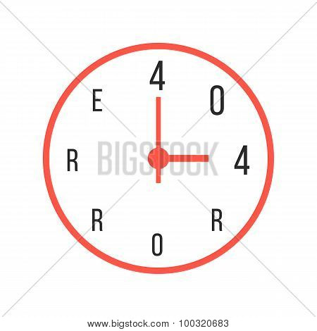 concept of error 404 with red watches