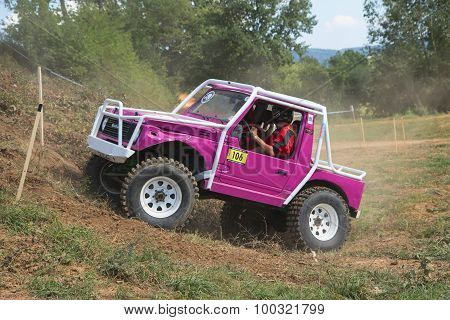 Purple Small Off Road In Terrain