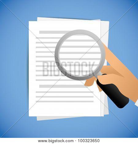 Document design, vector illustration.