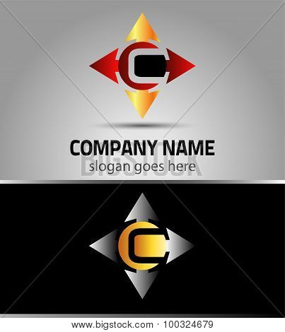 Letter C logo design sample
