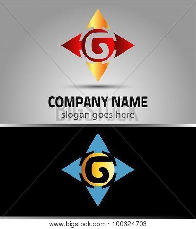 Letter G logo vector alphabet G concept type as logo with arrow