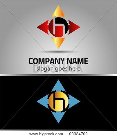Letter H logo vector alphabet H concept type as logo