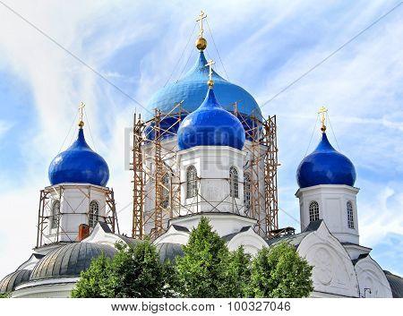 Bogolyubsky cathedral in Svyato-Bogolyubsky nunnery, Bogolyubovo, Russia
