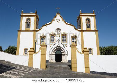 Traditional Azores Church. Santa Cruz. Praia Da Vitoria. Terceira. Portugal