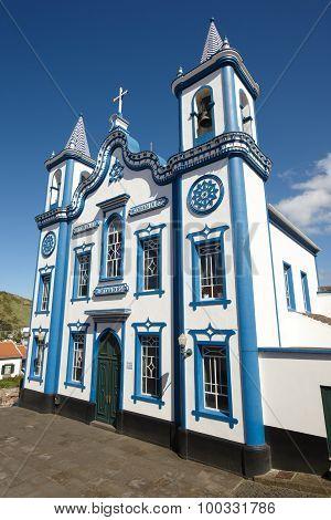 Traditional Azores Church. Santo Cristo. Praia Da Vitoria. Terceira. Portugal