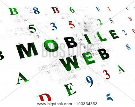 Web design concept: Mobile Web on Digital background