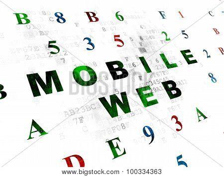 Web design concept: Mobile Web on Digital background