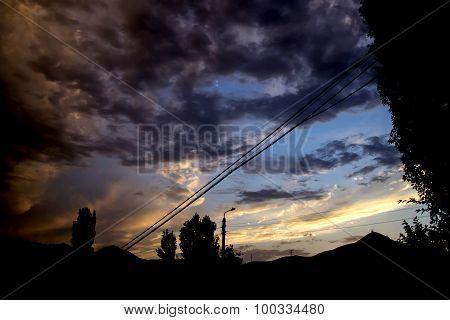 colored sky