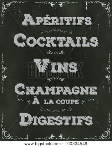 French Restaurant Beverage Background