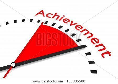 Clock With Red Seconds Hand Area Achievement Illustration