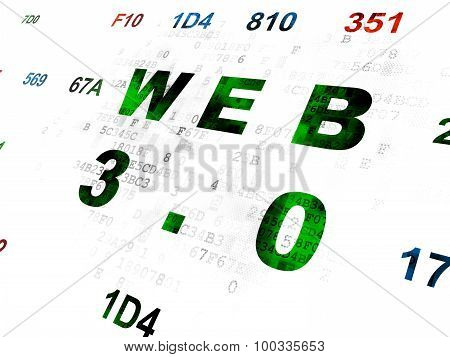 Web development concept: Web 3.0 on Digital background