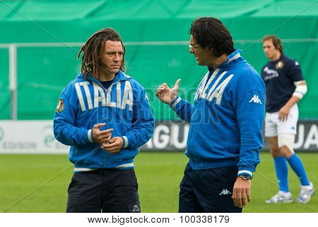 Rome, Italy - November 18 2006. Rugby Test Match Italy-argentina. Italian Player Paul Griffen On Pla
