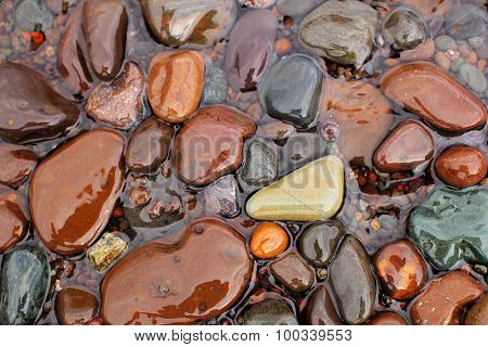 Lake Superior's Colorful Rocks