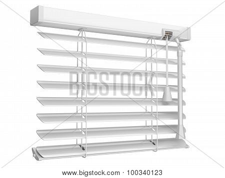 Open White Window Blinds