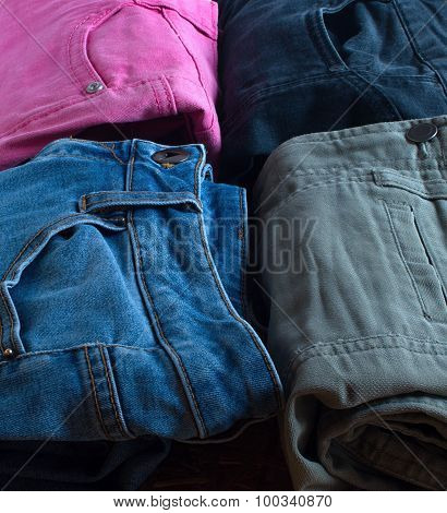 Jeans Of Different Colors