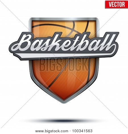 Premium symbol of Basketball label