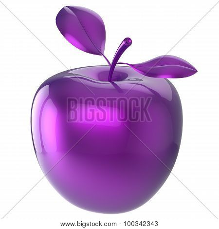 Purple Apple Food Blue Research Experiment Nutrition Fruit Icon
