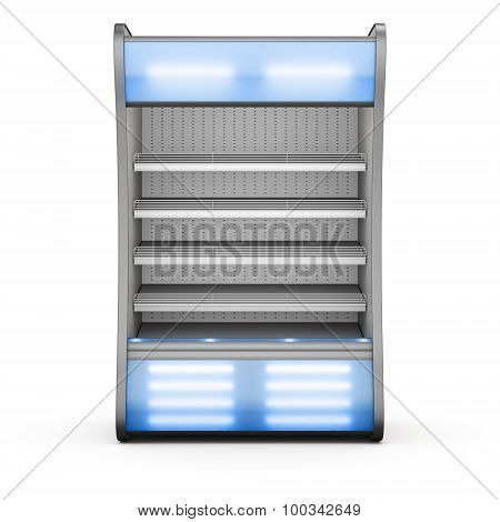 Showcase For Chilled Products With Blue Backlight