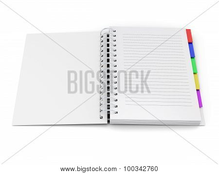 Open Notebook With Tabs On The Spring