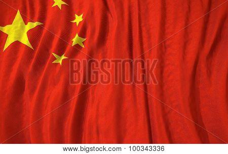 Corrugated China Flag