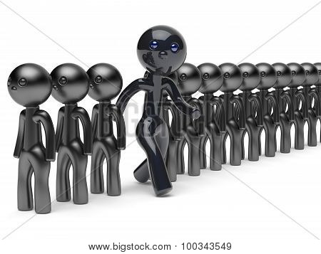 Unusual Man Different People Stand Out From Crowd Think Differ
