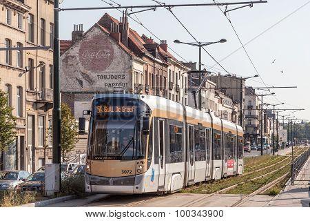 Tram In Brussels, Belgium