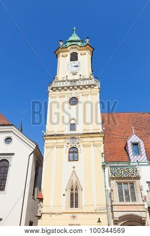 Belfry (1370) Of Old Town Hall In Bratislava, Slovakia