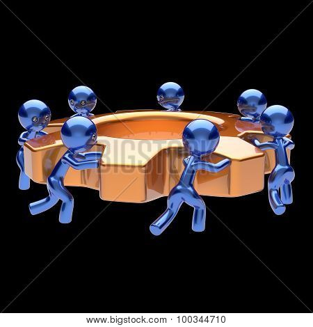 Gearwheel Teamwork Cogwheel Business Process Team Work