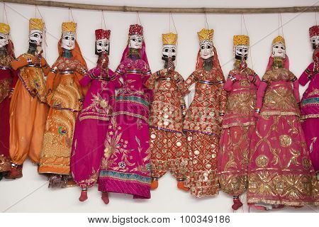 Colorful Handmade Puppets, India