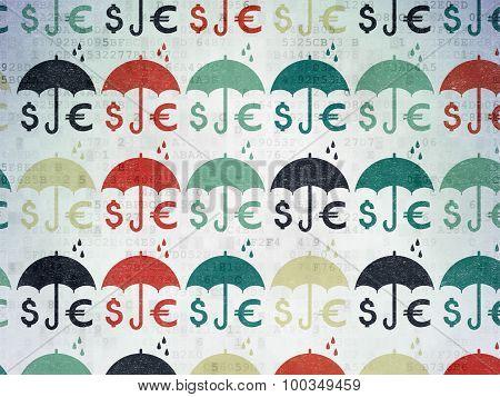 Umbrella icons on Digital Paper background