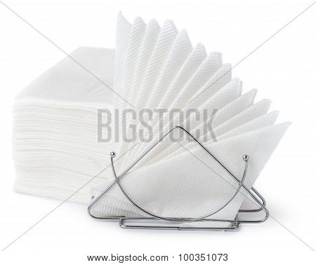 Napkin Holder With Napkins