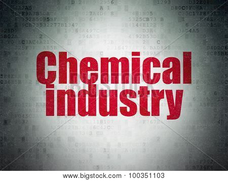 Manufacuring concept: Chemical Industry on Digital Paper background