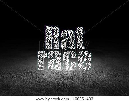 Politics concept: Rat Race in grunge dark room
