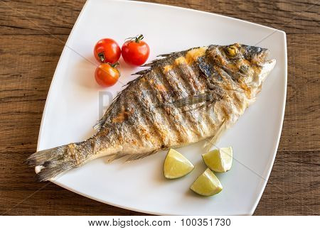 Grilled Dorada With Lemon And Cherry Tomatoes