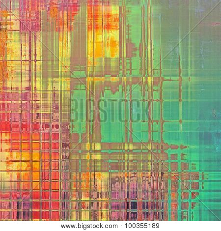 Abstract grunge background. With different color patterns: yellow (beige); blue; green; red (orange); pink