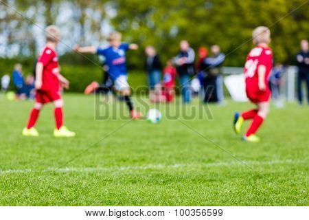 Boys Soccer Match Blur