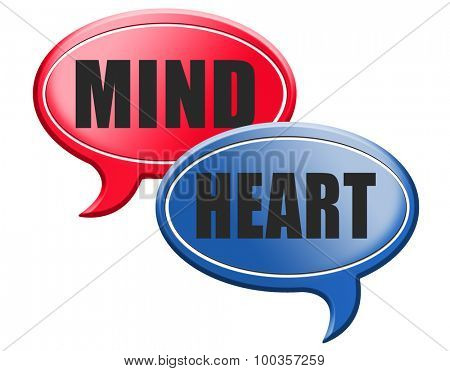 heart over mind follow your instinct and gut feeling or intuition insight