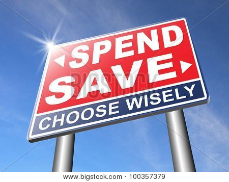 save for later plan ahead saving money in piggy bank savings now and spend later after crisis road sign arrow
