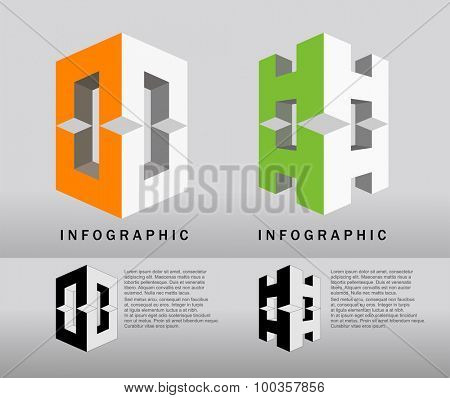 Two vector infographic design elements
