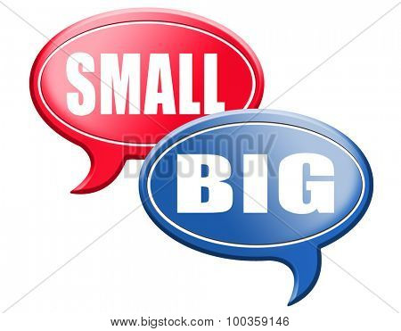 big small size matters no deal or issue