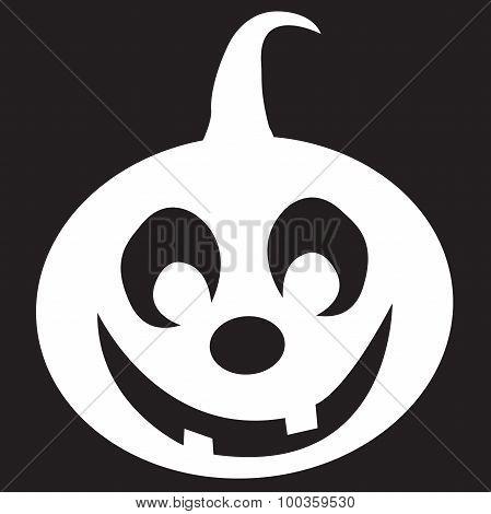 Transparent Stencil Pumpkin For Halloween On Black Background