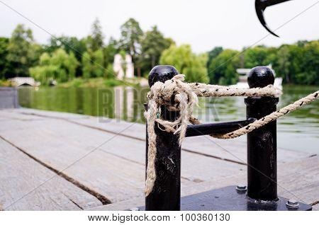 Mooring Ropes Close Up.