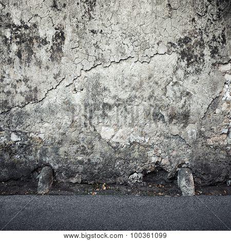 Empty Square Dark Interior Background Texture