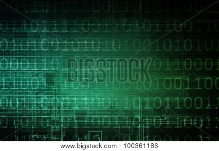Digital Economy Abstract Business Concept as Art