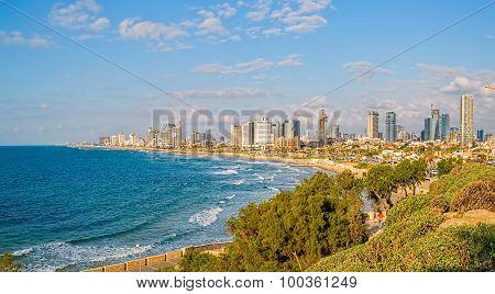 Tel Aviv riviera panorama