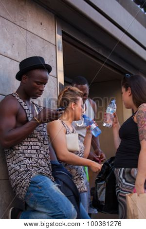 Teenagers In The Milan Street